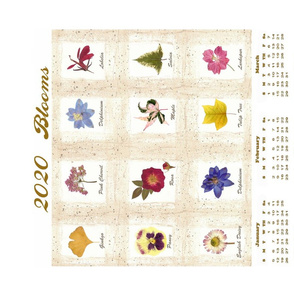 2020 blooms calendar