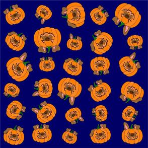 Dogpumpkin halloween