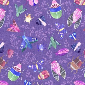 Beautiful Bugs {Violet} - medium
