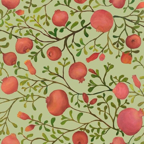 Pomegranate Garden {Pale Green} - medium