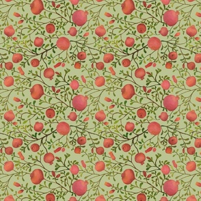 Pomegranate Garden {Pale Green} - small