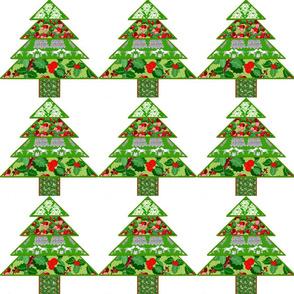 Patchwork Christmas tree white