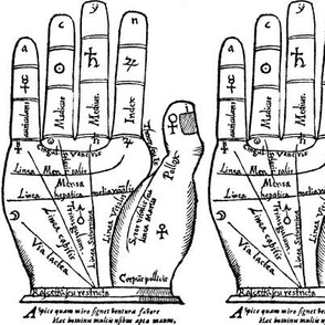 palm reading palmistry divination right hands fingers fortune telling alchemy alchemical symbols planets mercury sun Saturn Jupiter Venus moon element magic  mystic occult magick  monochrome future ancient antique victorian mystical  medieval black white