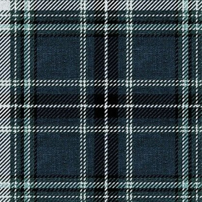 Moody Plaid - in gray blue and black