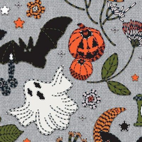 Embroidered halloween