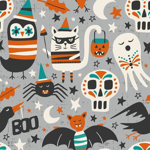 Halloween Party - Grey Large Scale
