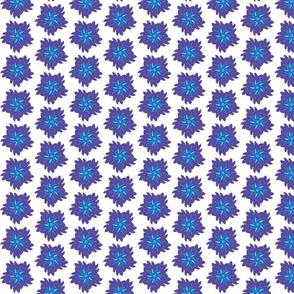 Denim Baby Funky Flower, Purple and Blue Denim Color Flower