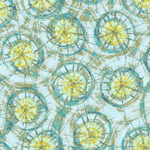 shibori_dots_aqua_yellow
