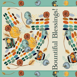 Harvest Blessing Tea Towel