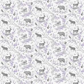 Spring Toile (lavender + grey) xxxsml