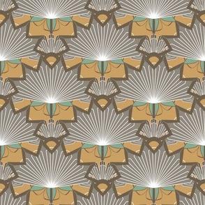 Art Deco Fan Flower in Scallop Pattern