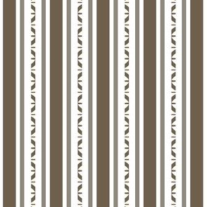 Brown and White Ribbon Stripes