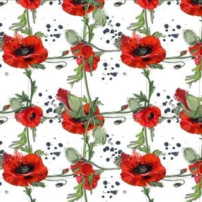 Poppies plaid