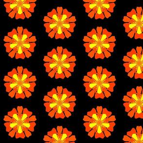 Burning Orange Desire Funky Flower
