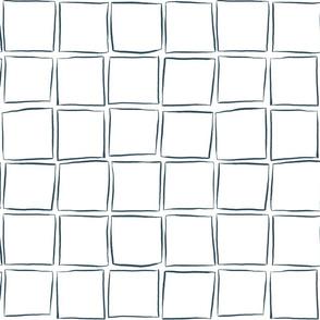 Skew Squares - Night Sky on White Medium Scale