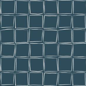 Skew Squares - White on Night Sky Medium Scale