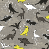 Dinosaurs {Silver/Yellow}