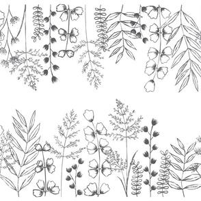 Grass Fields - Midnight on White Medium Scale