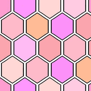 Geometric Hexagon / Save the Honey Bees-Honeycomb med