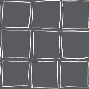 Skew Squares - White on Midnight Large Scale