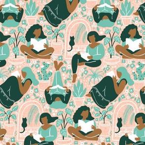 Woman Readers - Bg Texture 50% size