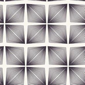 Seamless vector pattern. Modern geometric hand drawn linear diamond.
