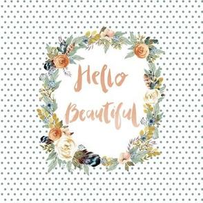 "8"" Hello Beautiful Western Autumn Florals"