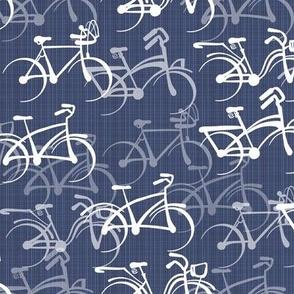 Biking   Warm Blue Faux Texture   Standard Size