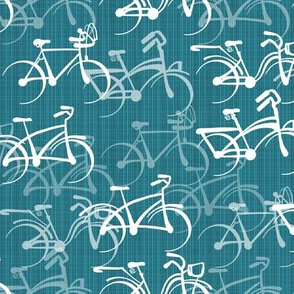 Biking   Teal Faux Texture   Standard Size