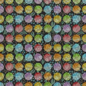 Chalkboard Floral Polka Dots