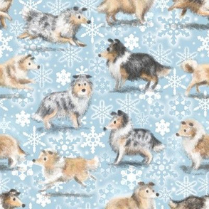 The Christmas Rough Collie