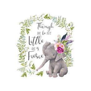 "8""x10"" Though She Be But Little Boho Lilac Elephant"