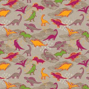 Dinosaurs {Pink/Green}