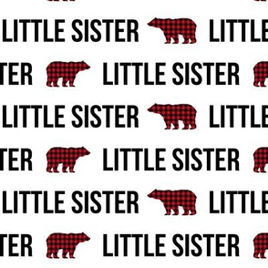 little sister buffalo plaid fabric - buffalo plaid bear, matching fabrics