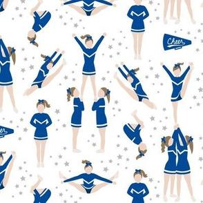 Cheerleading Stunts Blue