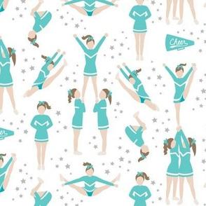 Cheerleading Stunts Turquoise