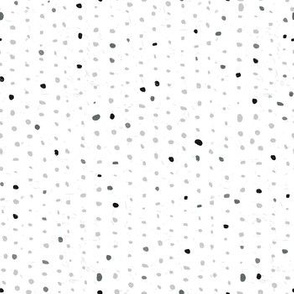 polkadot in values of grey
