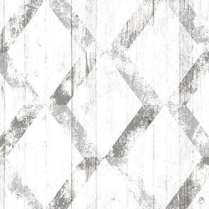 Painted Hardwood Diamonds in Grey