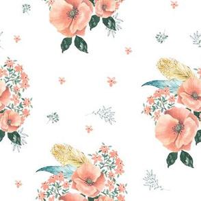 "8"" Sweet Dreams Coral Florals"