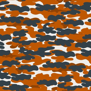 texas camo fabric - camouflage fabric, burnt orange and grey fabric - orange camo