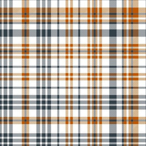 texas plaid fabric - texas tartan, texas check, burnt orange check