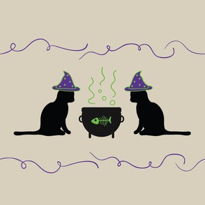 Cat Cauldron Border
