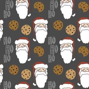 Santas cookies charcoal-4x4