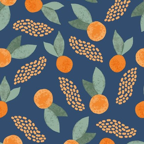 Oranges on Navy