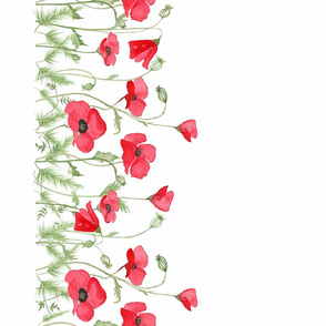 BecW_Field of Poppies _Borderprint_White