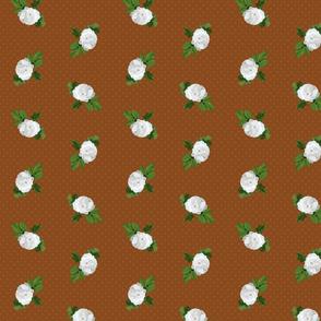 White Rose Cinnamon Dots