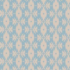modern graphic stripe light blue cream