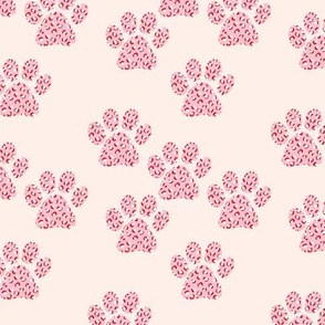 Little leopard panther spots animal skin dog paws trend design peach