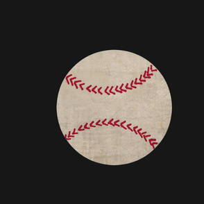 Vintage Baseball on black - XL 195x167