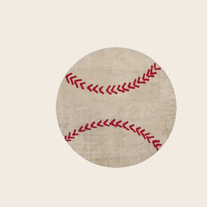 Vintage Baseball on cream - XL 195x167